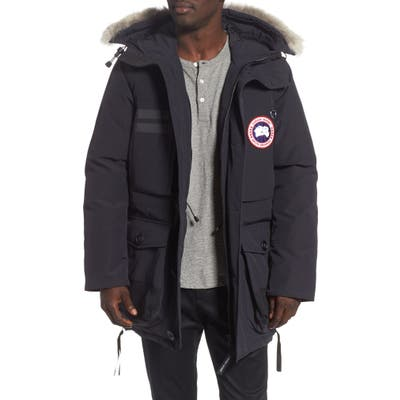 Canada Goose Maccullough Genuine Coyote Fur Trim Down Parka, Blue