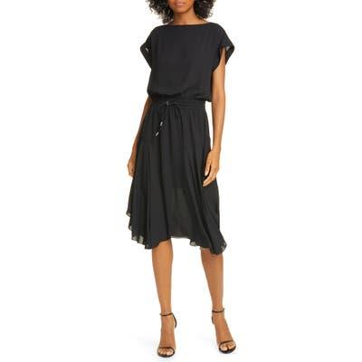 Atm Anthony Thomas Melillo Drawstring Waist Dress, Black