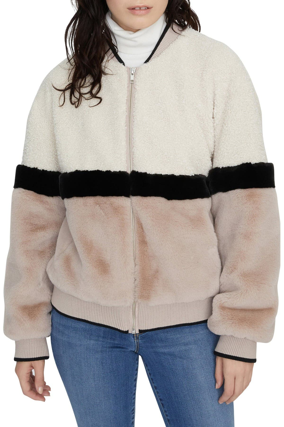 Image of Sanctuary Blockparty Faux Fur Bomber