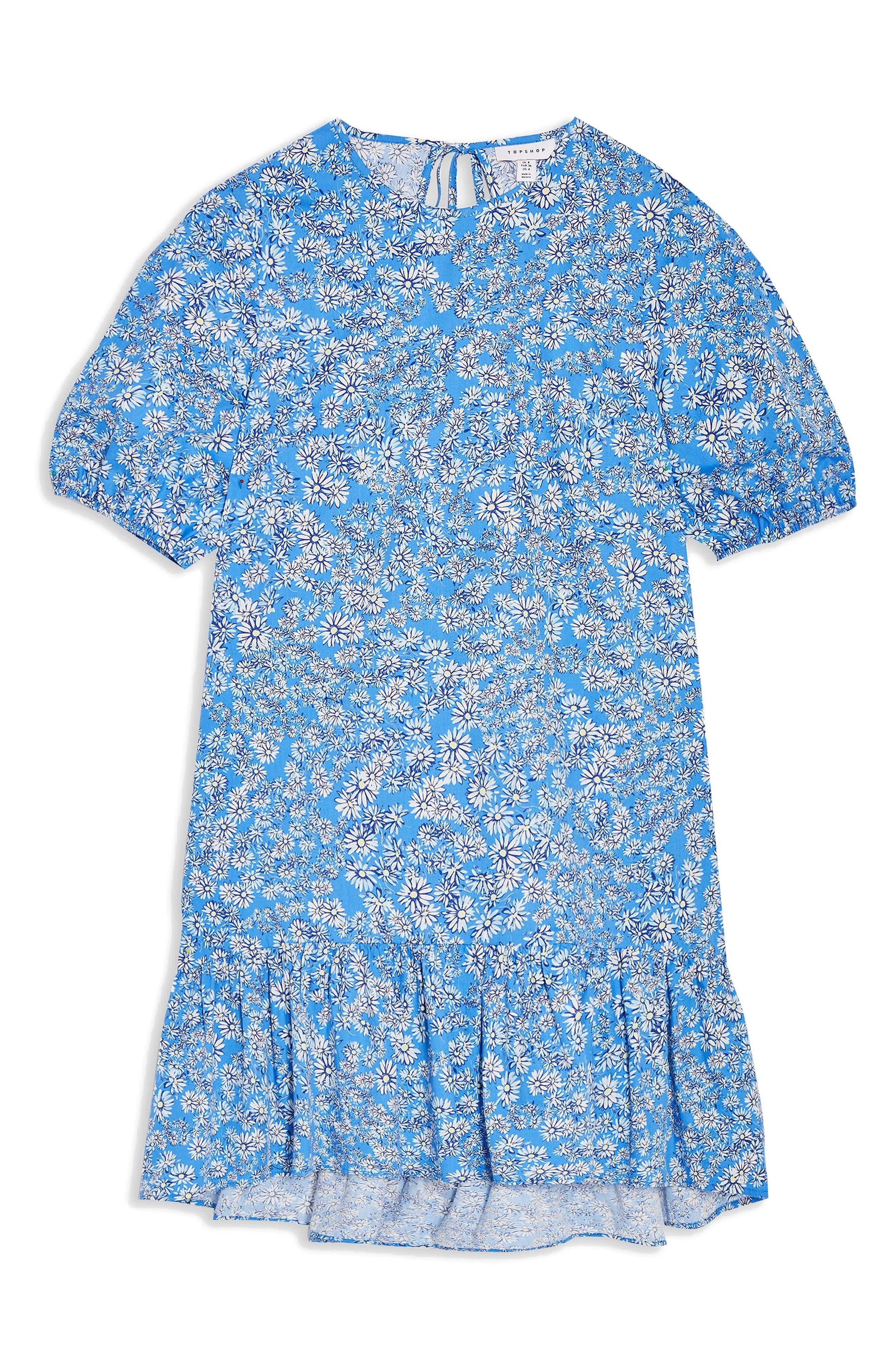 Image of TOPSHOP Floral Print Poplin Shift Dress