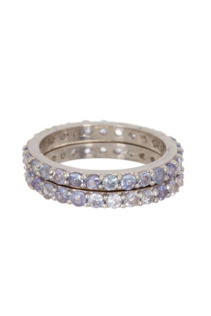 Image of Forever Creations USA Inc. Sterling Silver Tanzanite Band Set