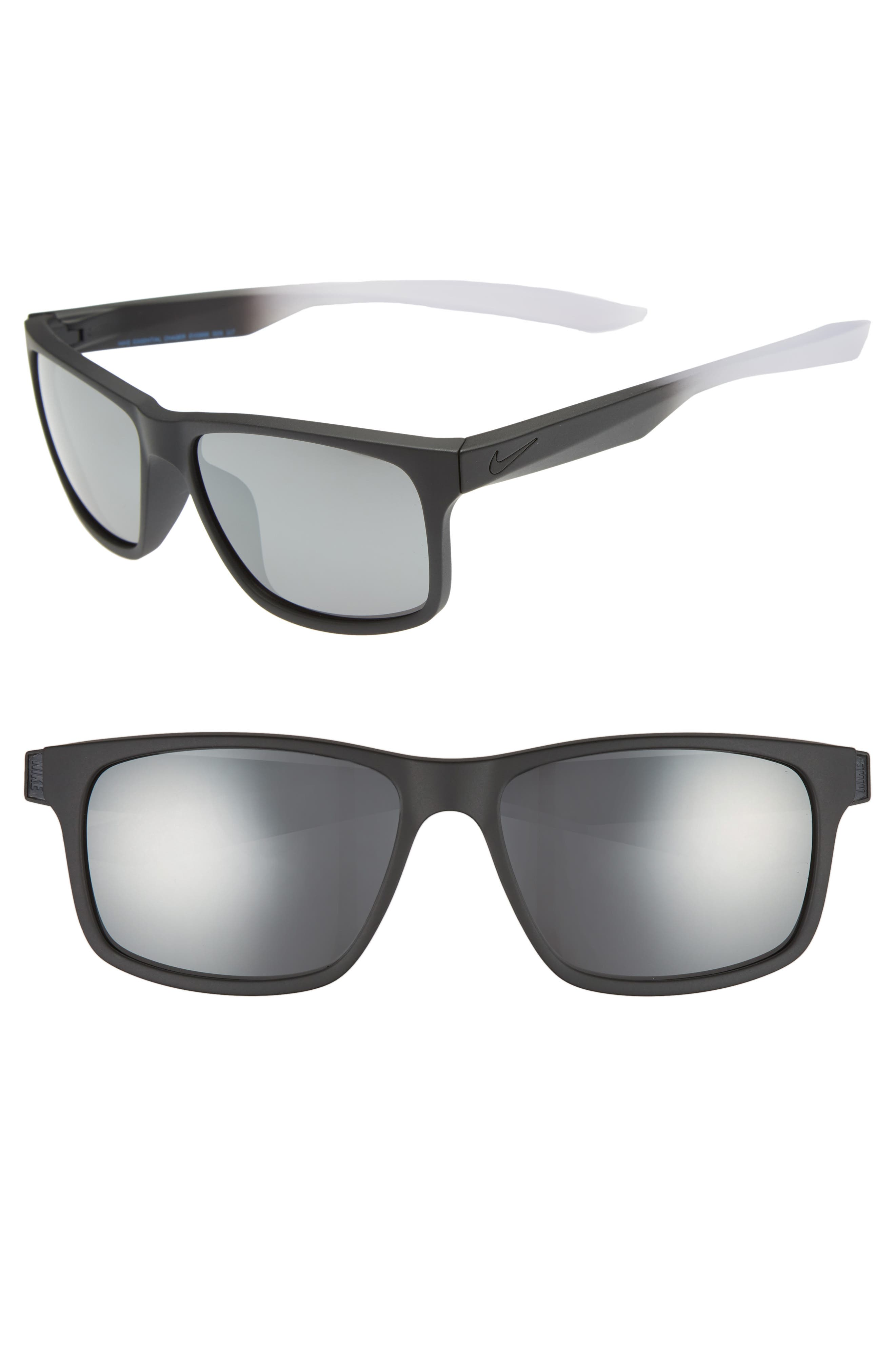 Nike Essential Chaser 5m Sunglasses - Matte Black/ Grey Silver Flash