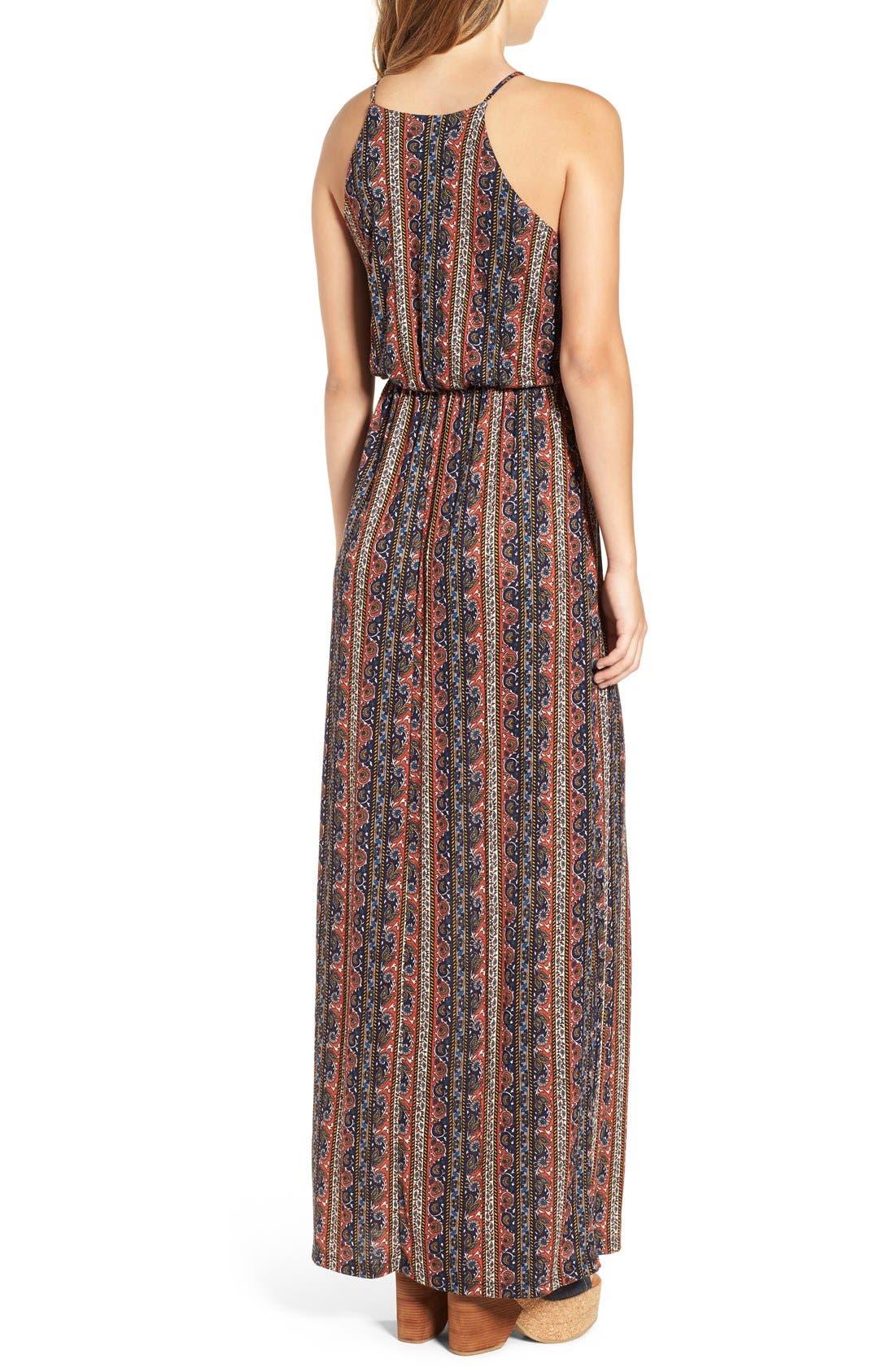 ,                             High Neck Maxi Dress,                             Alternate thumbnail 104, color,                             402