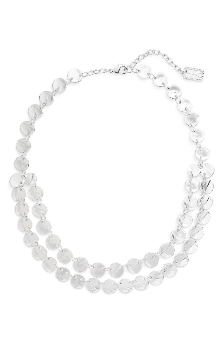 KARINE SULTAN Ariane Coin Collar Necklace, Main, color, 040