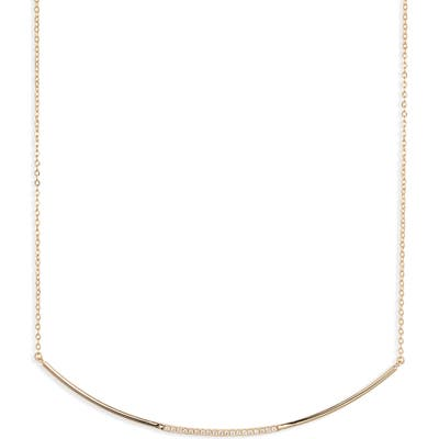 Nordstrom Curved Pave Bar Necklace