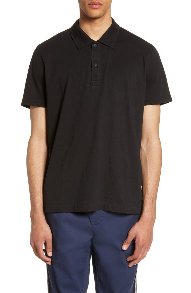 ATM ANTHONY THOMAS MELILLO Short Sleeve Jersey Polo, Main, color, BLACK