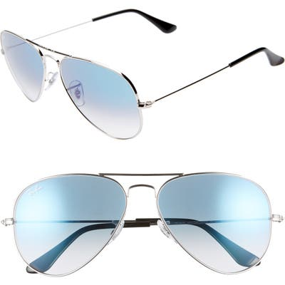 Ray-Ban 5m Gradient Aviator Sunglasses - Silver/ Blue Gradient