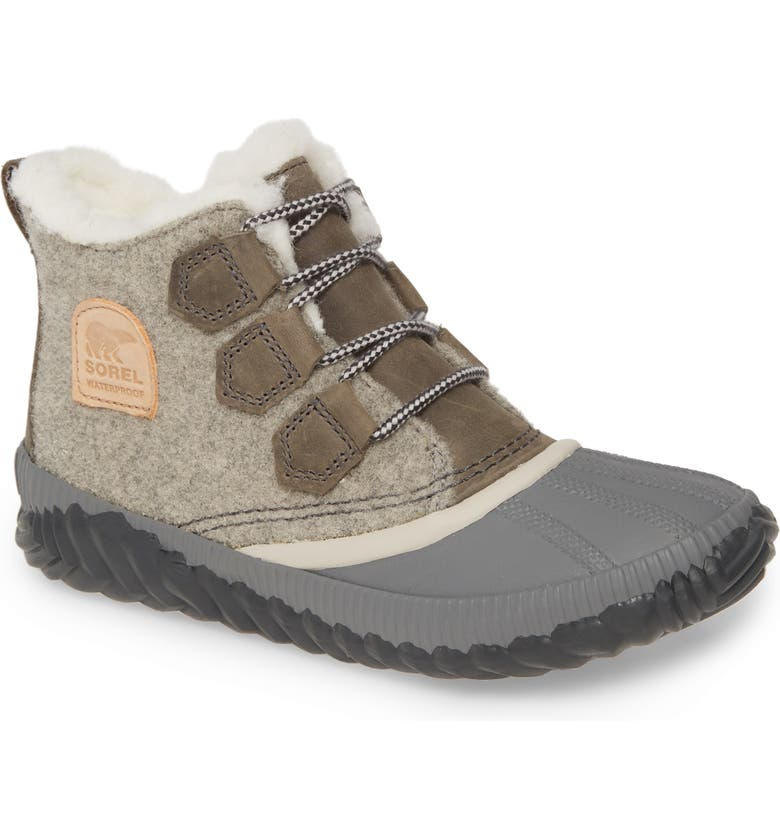 SOREL Out N About Plus Waterproof Bootie, Main, color, NATURAL TAN LEATHER
