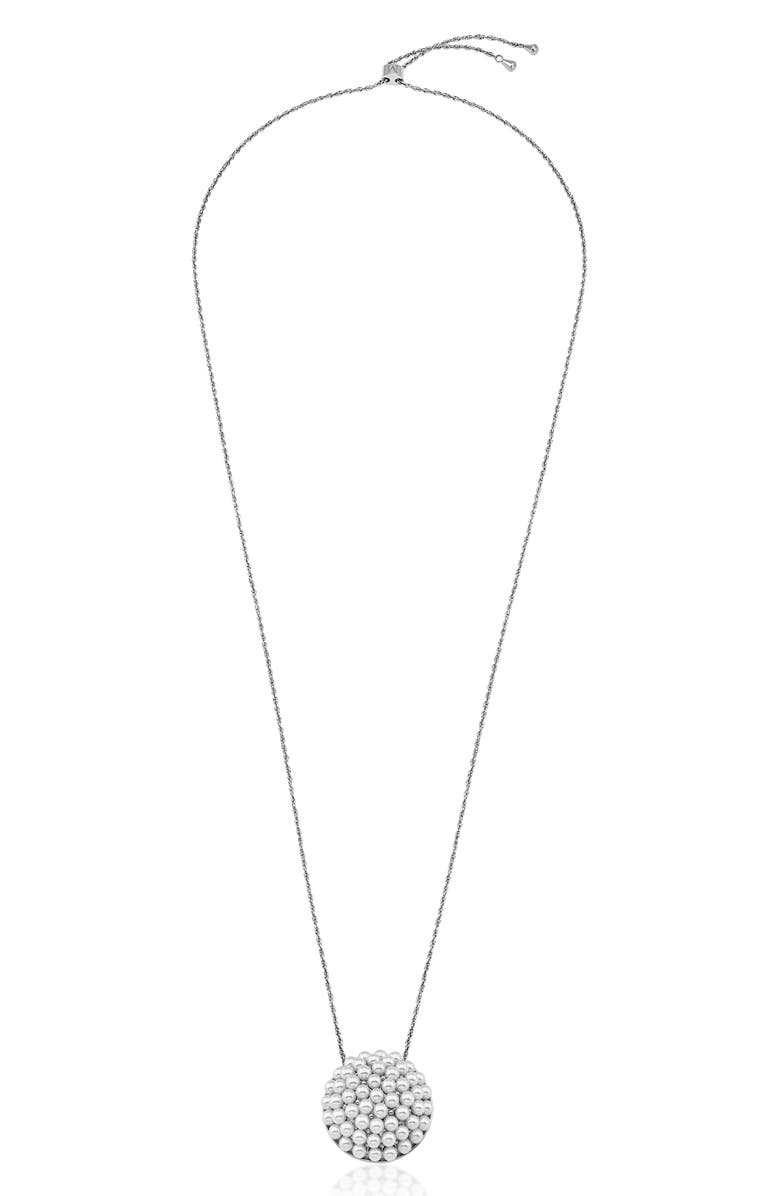 MAJORICA Simulated Pearl Pendant Necklace, Main, color, 040