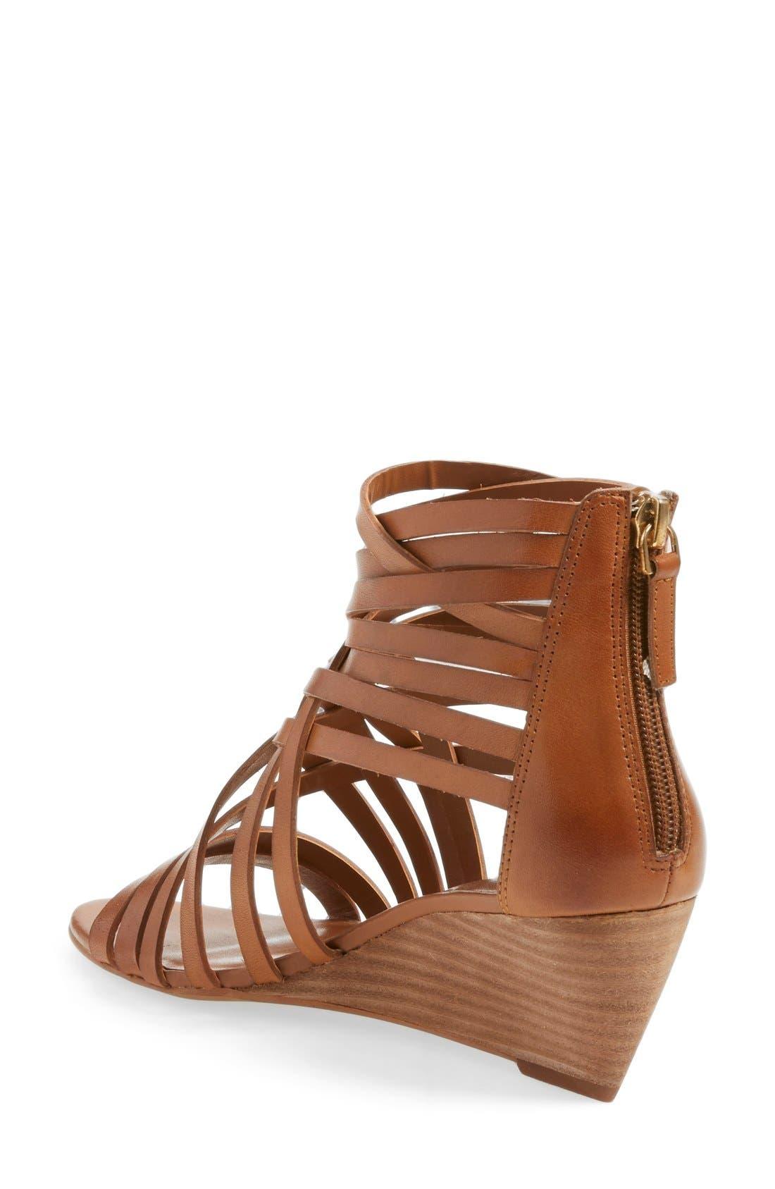,                             'Neta' Leather Wedge Sandal,                             Alternate thumbnail 14, color,                             201