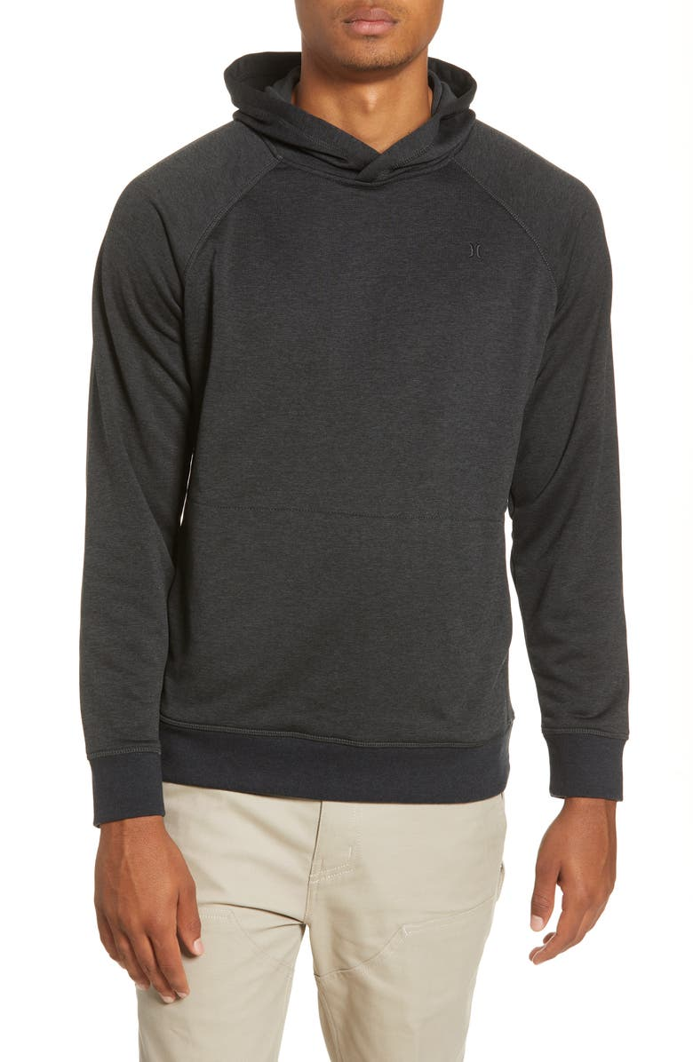 HURLEY Dri-FIT Salton Performance Pullover Hoodie, Main, color, BLACK