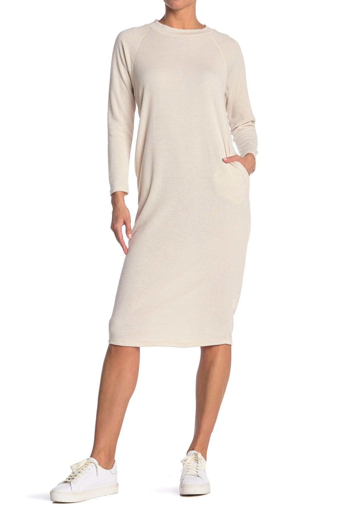 Image of Lush Solid Long Sleeve Knit Dress