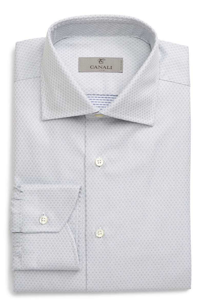 CANALI Regular Fit Geometric Dress Shirt, Main, color, 039