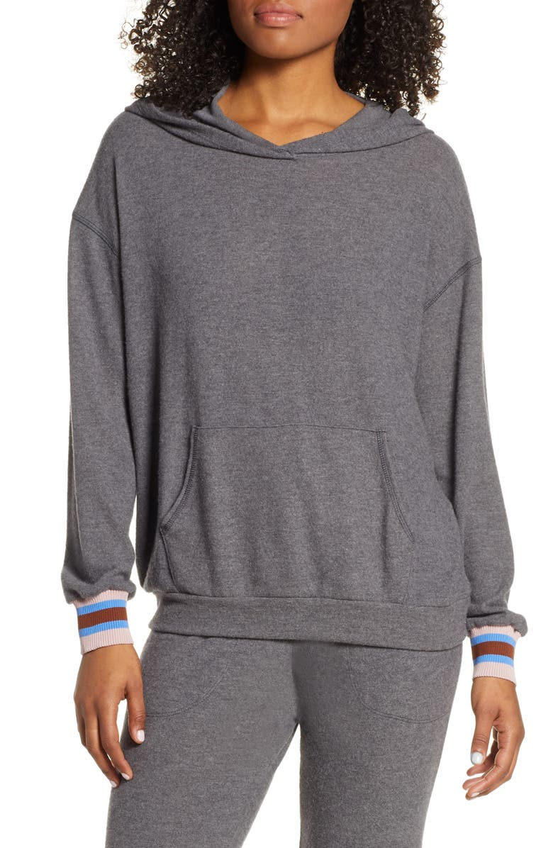 PROJECT SOCIAL T Finn Cozy Hoodie, Main, color, HEATHER CHARCOAL