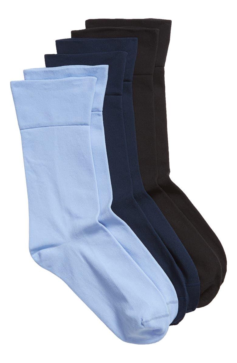 NORDSTROM Ultra Sleek 3-Pack Crew Socks, Main, color, 400