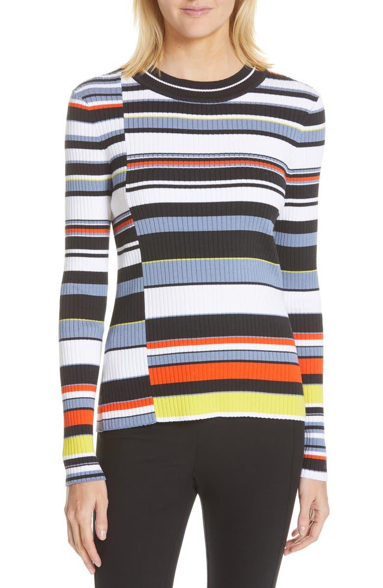 RAG & BONE Mason Stripe Top, Main, color, NAVY