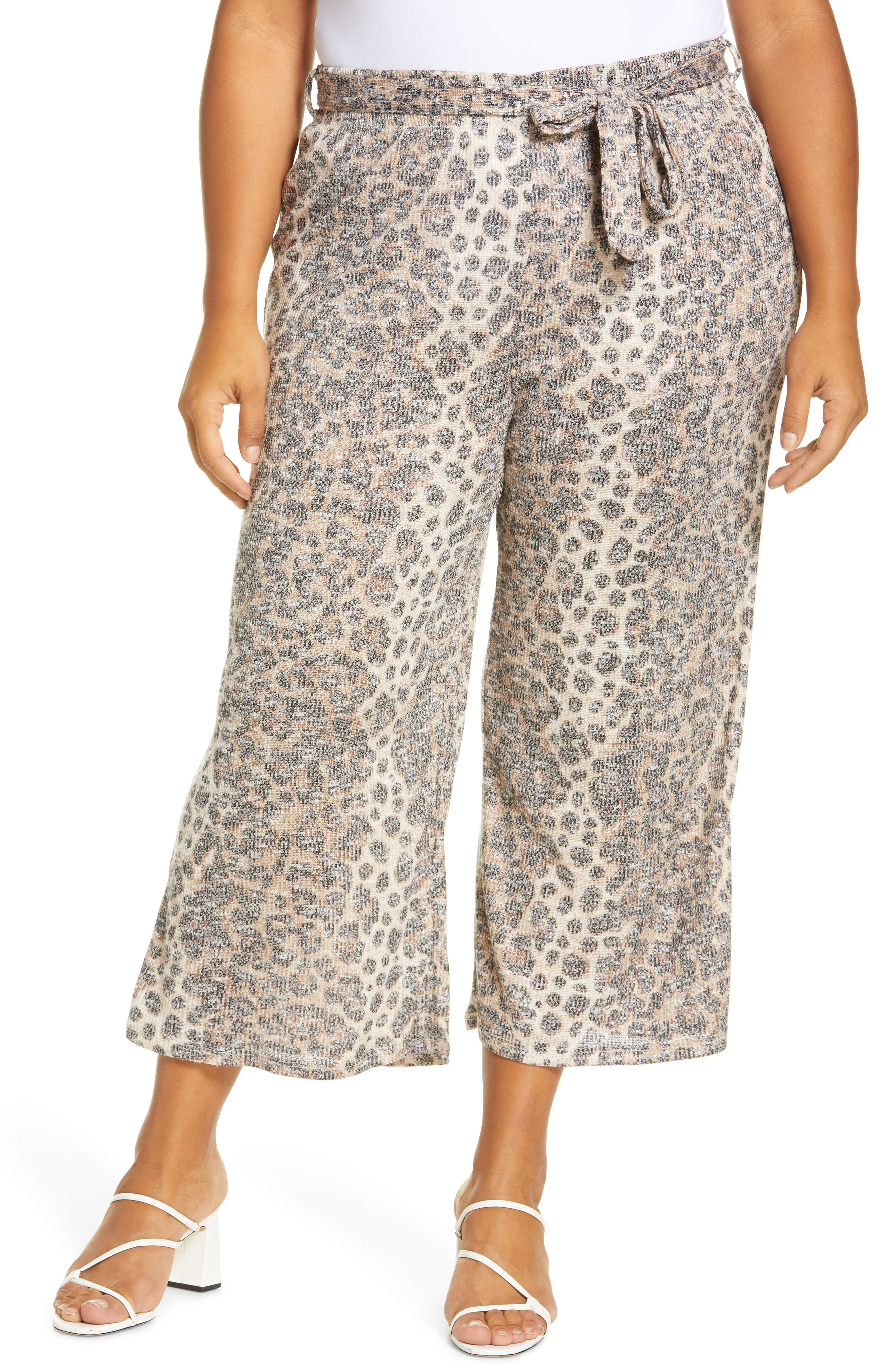 Image of Bobeau Doris Print Knit Crop Pants