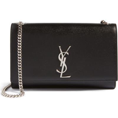 Saint Laurent Medium Kate Leather Wallet On A Chain - Black