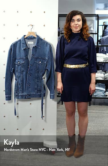 Max Belted Denim Trucker Jacket, sales video thumbnail