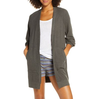 Plus Size Bp. Warm Me Up Cozy Open Cardigan, Grey