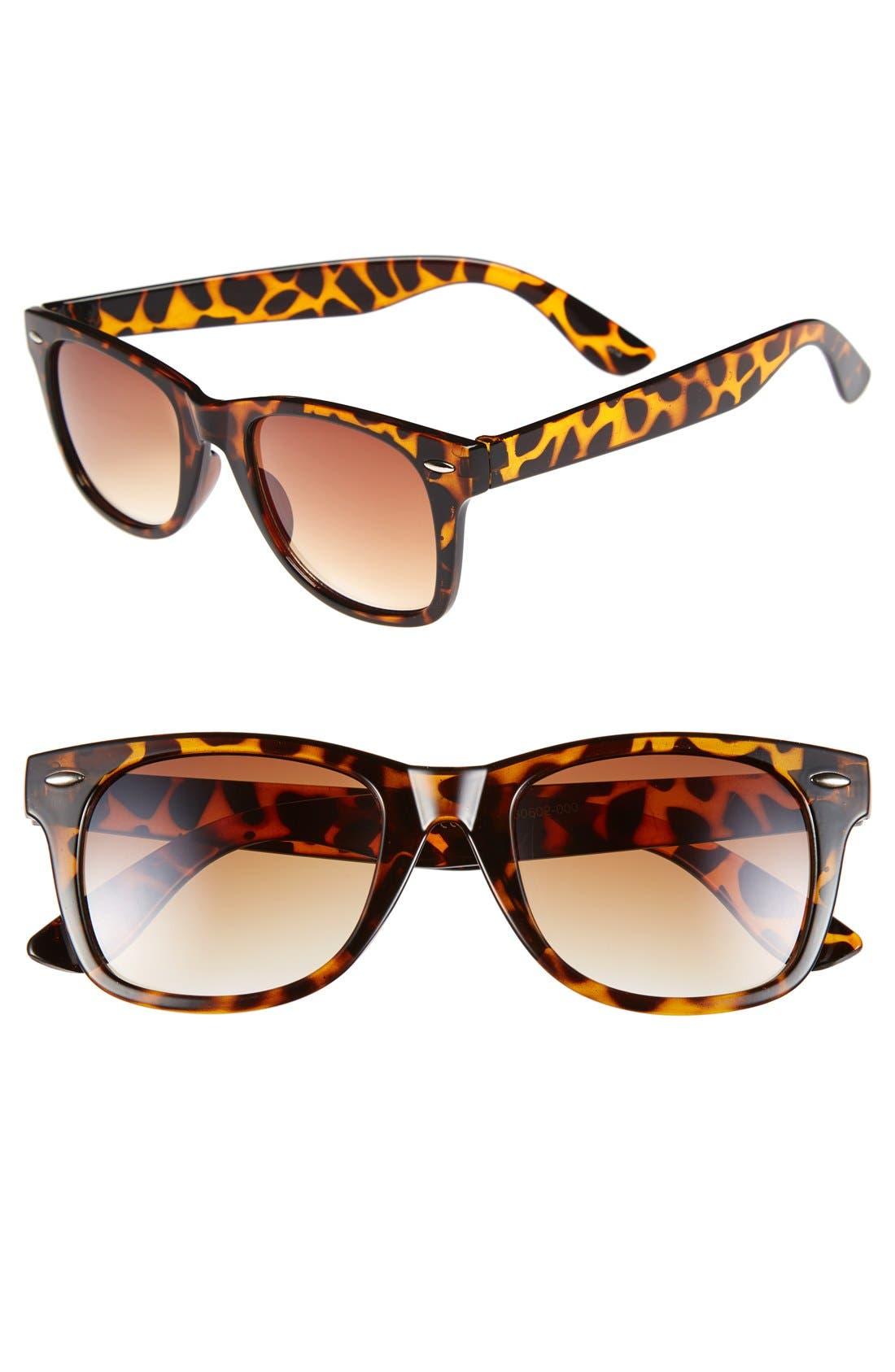 58mm Retro Sunglasses, Main, color, 200
