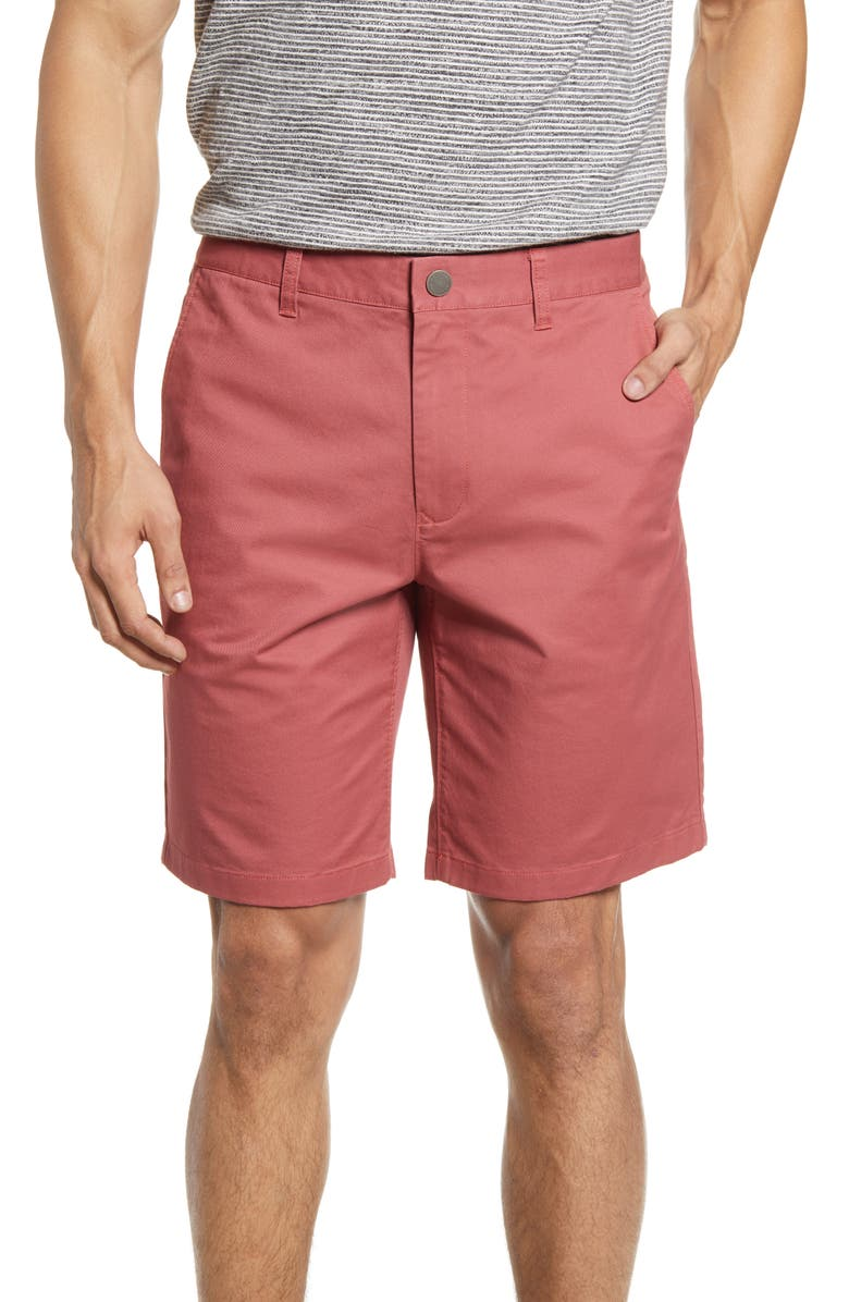 BONOBOS Stretch Washed Chino 9-Inch Shorts, Main, color, SUGAR BERRY