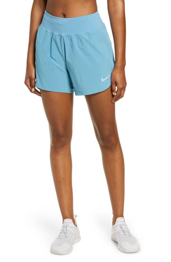 Nike Eclipse Women's Running Shorts In Cerulean/ Reflective