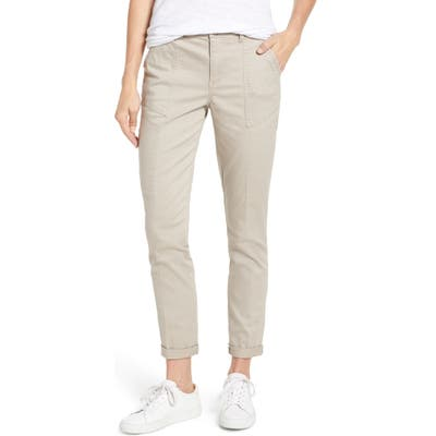 Wit & Wisdom Flex-Ellent High Waist Cargo Pants, Beige (Nordstrom Exclusive)