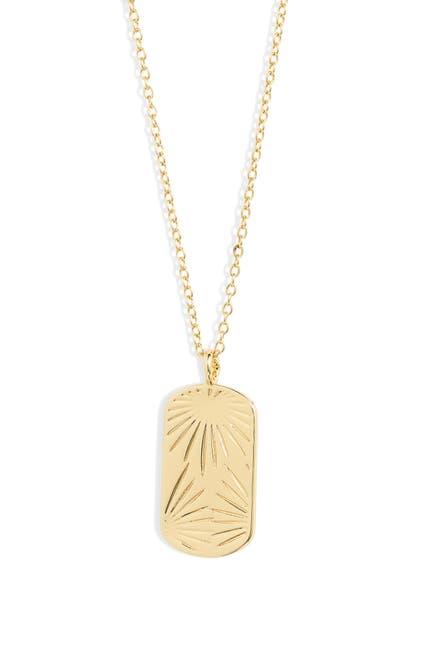 Image of Gorjana Azul Stamped Dog Tag Necklace