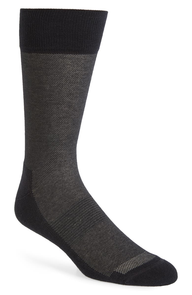 NORDSTROM MEN'S SHOP Allover Dots Socks, Main, color, BLACK/ GREY