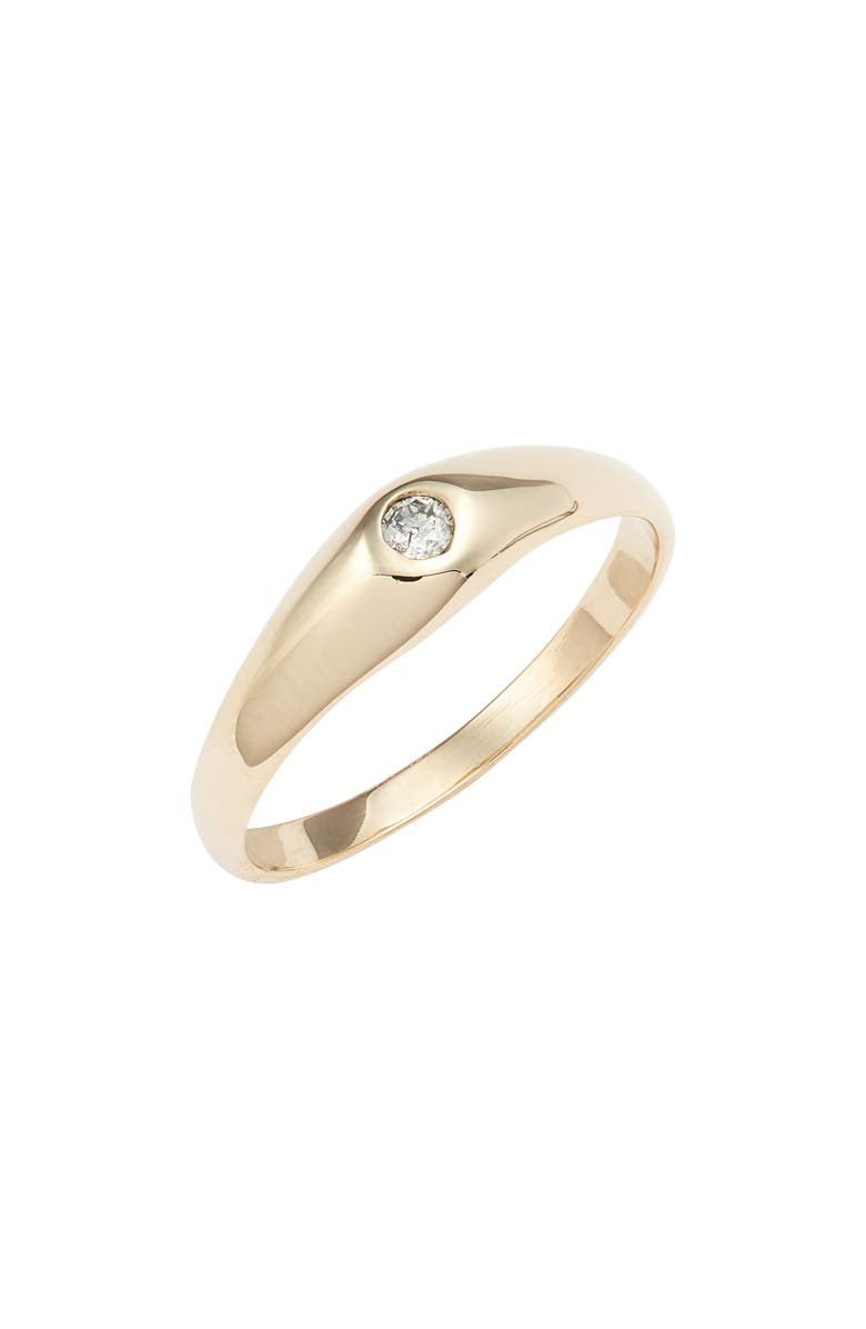 LOREN STEWART Varsity Diamond Ring, Main, color, YELLOW GOLD/ DIAMOND