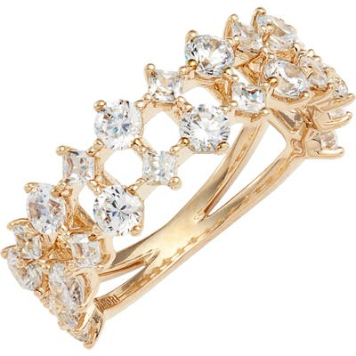 Nadri Double Band Cubic Zirconia Ring