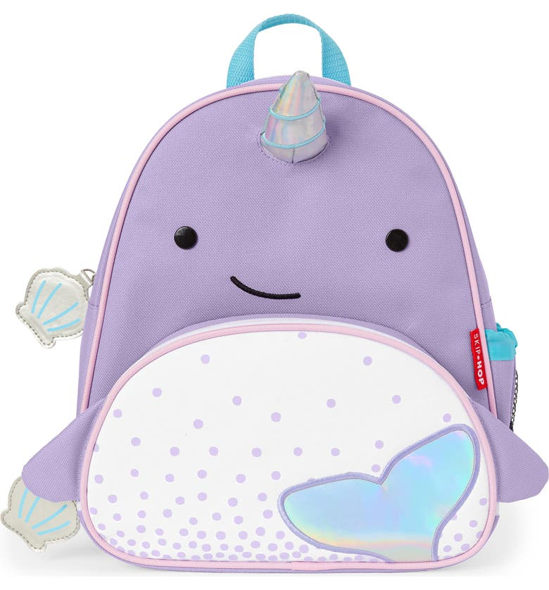 SKIP HOP Zoo Narwhal Backpack, Main, color, LAVENDER