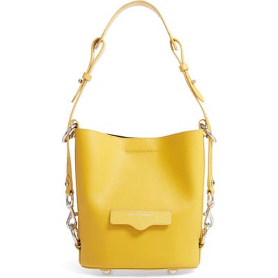 Rebecca Minkoff Small Utility Convertible Leather Bucket Bag - Yellow