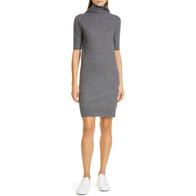 Fabiana Filippi Turtleneck Cashmere Sweater Dress, US / 44 IT - Grey