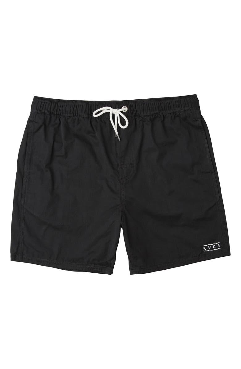 RVCA Gerrard Swim Trunks, Main, color, RVCA BLACK