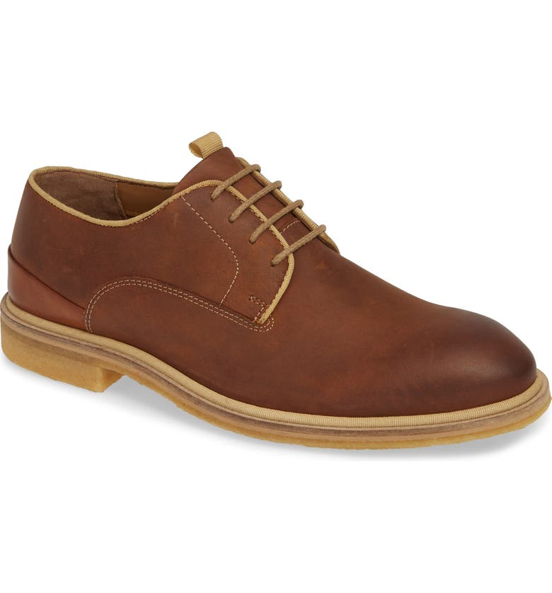 J&M 1850 Wagner Plain Toe Derby, Main, color, TAN LEATHER