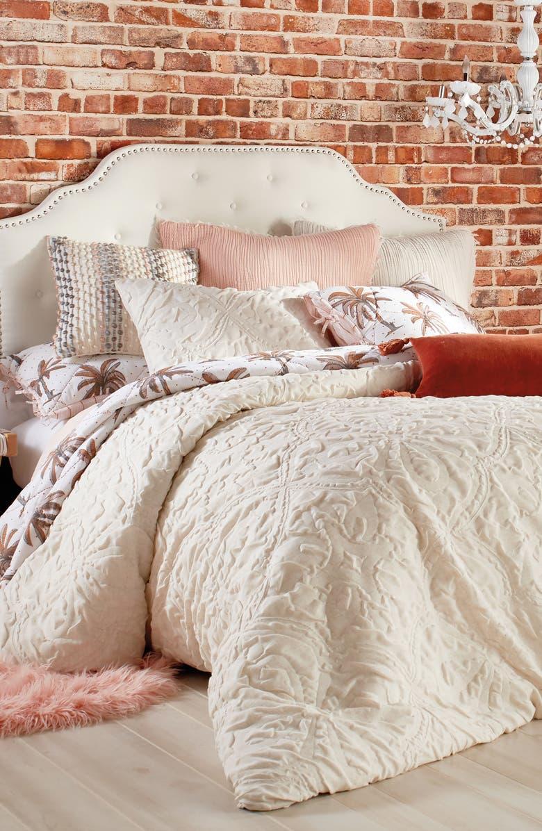 PERI HOME Vintage Tile Comforter & Sham Set, Main, color, LINEN