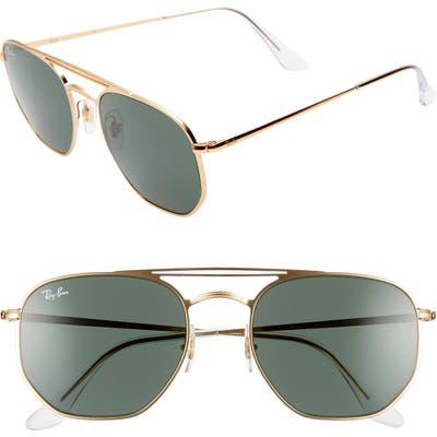 Ray-Ban 5m Aviator Sunglasses - Gold/ Green Solid