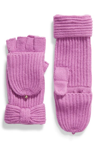 Kate Spade Solid Bow Pop Top Gloves In Wildflower