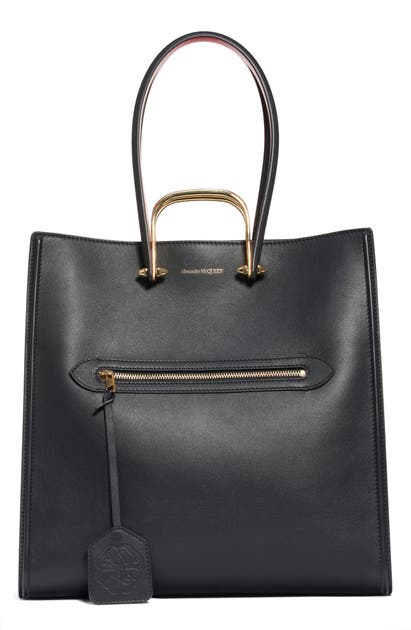 Alexander Mcqueen Handbags THE TALL STORY LEATHER TOTE