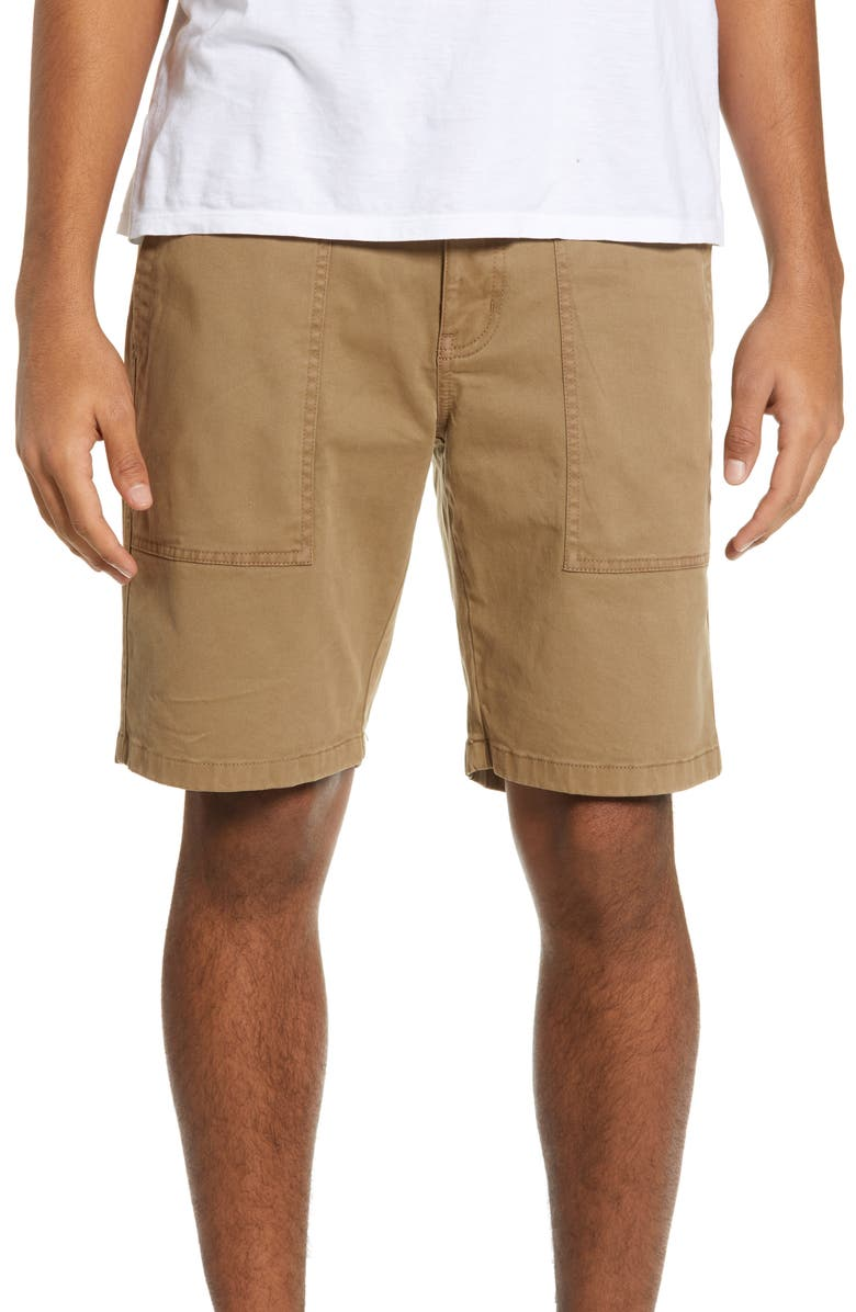 THE RAIL Utility Shorts, Main, color, TAN LEAD