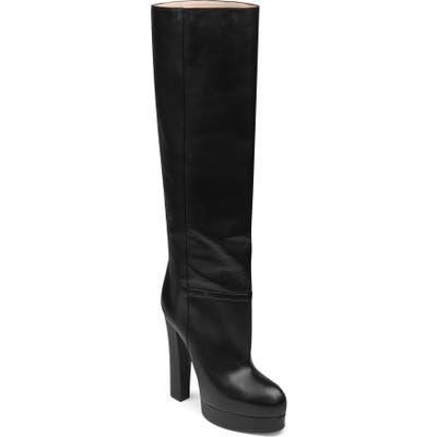 Gucci Britney Platform Tall Boot, Black