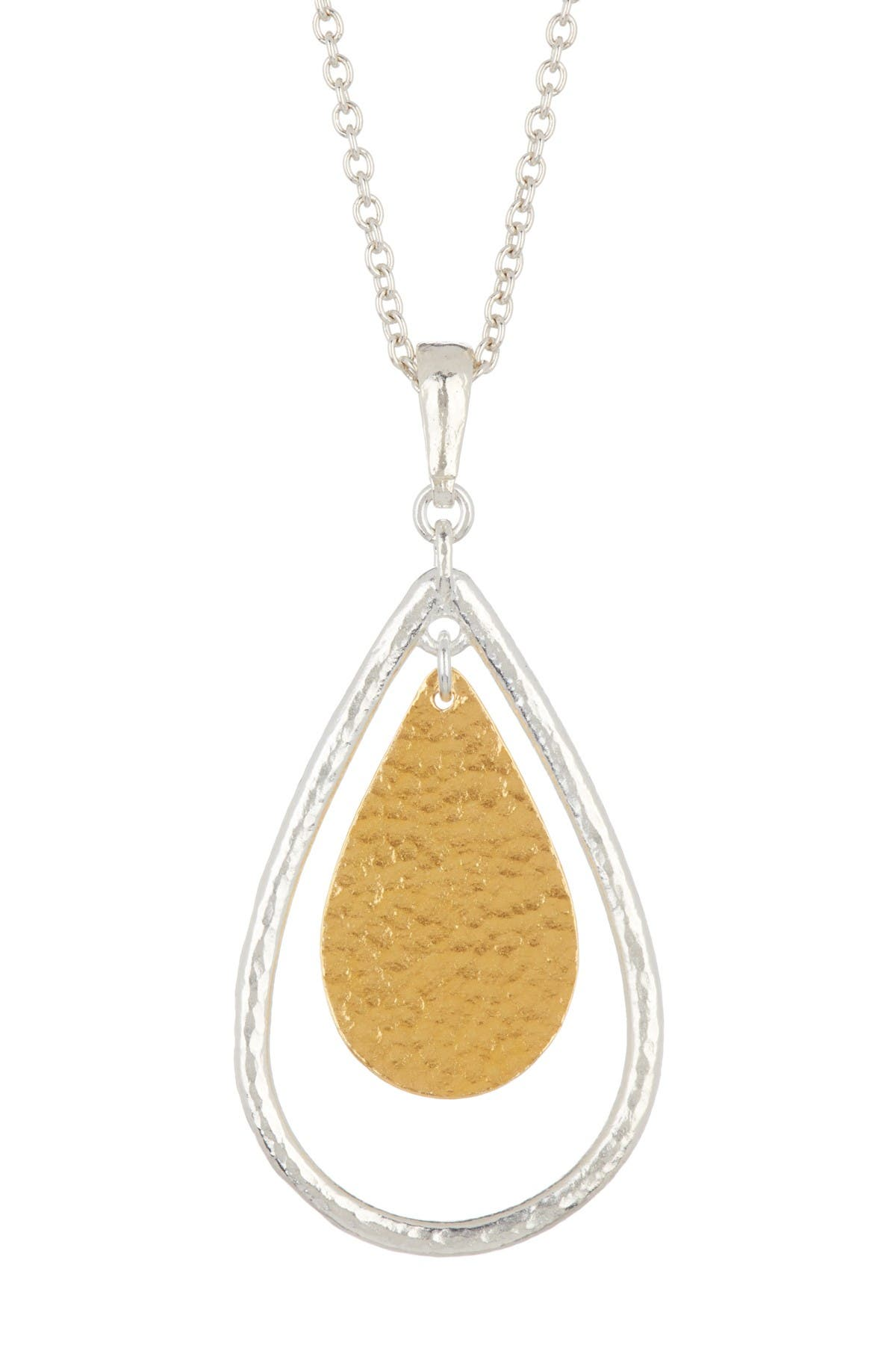 Image of Gurhan 24K Gold & Sterling Silver Two-Tone Pear Geo Necklace