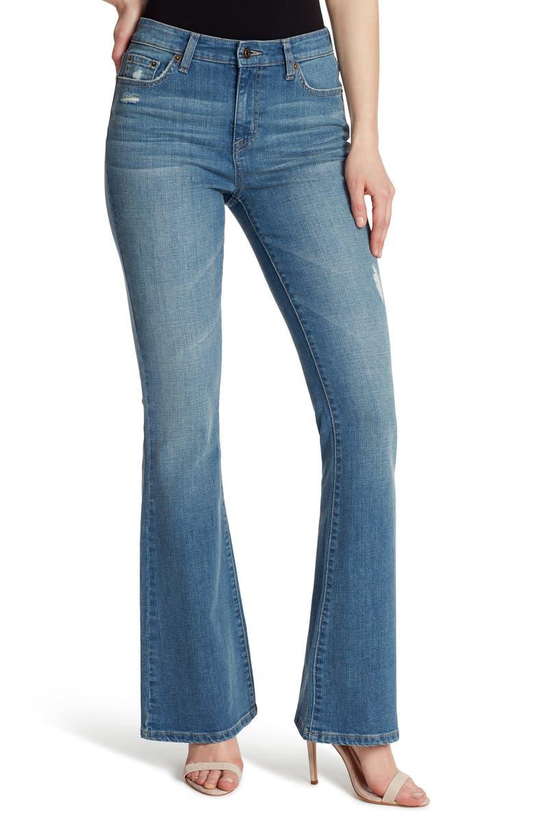 ELLA MOSS High Waist Flare Jeans, Main, color, SIERRA