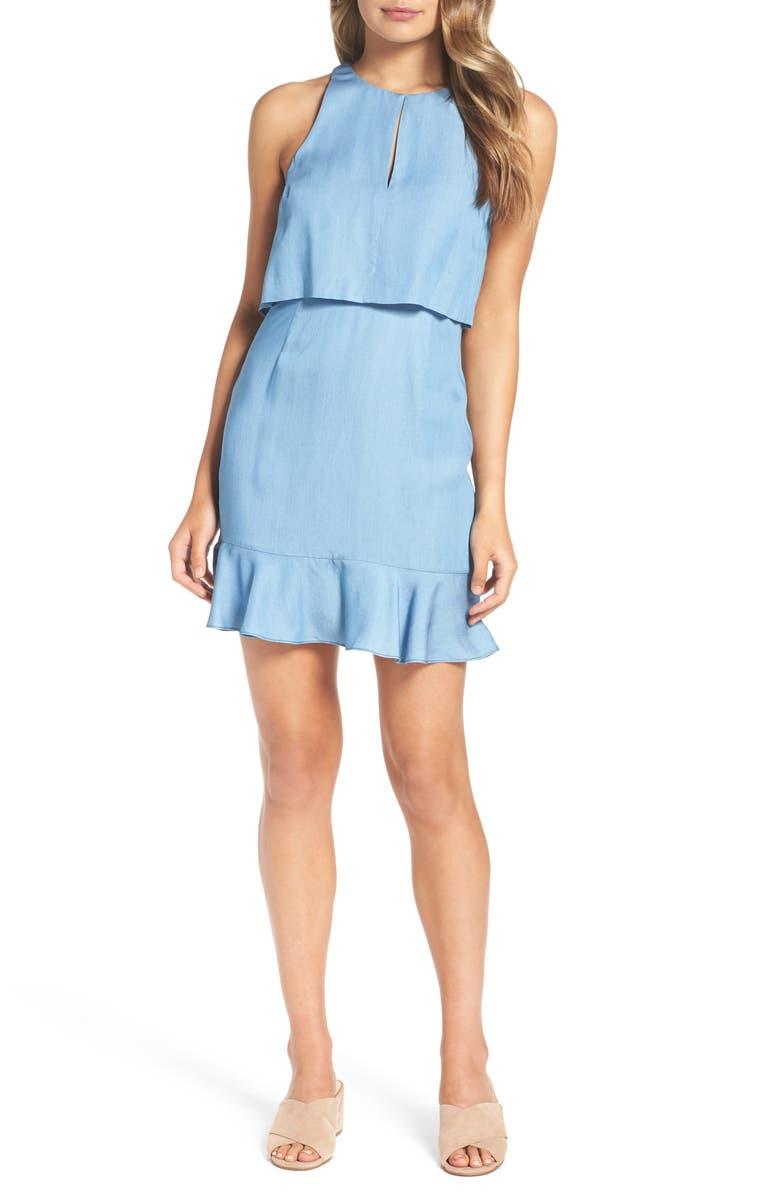 ALI & JAY Maya Chambray Popover Dress, Main, color, 450
