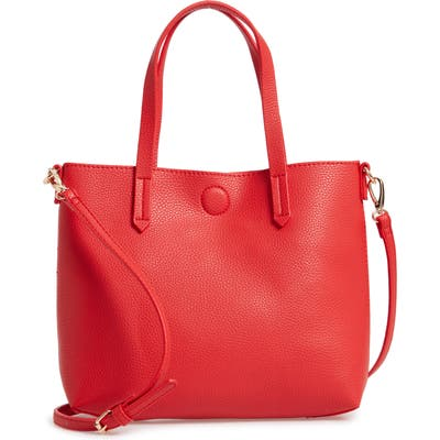 Bp. Faux Leather Crossbody Bag - Red
