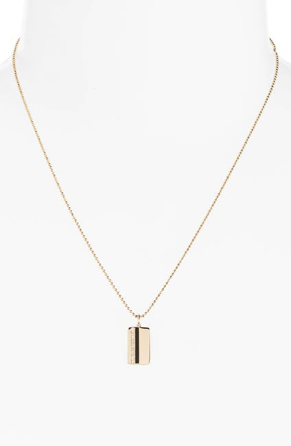 Image of EF Collection Vertical Stripe Diamond Pendant Necklace