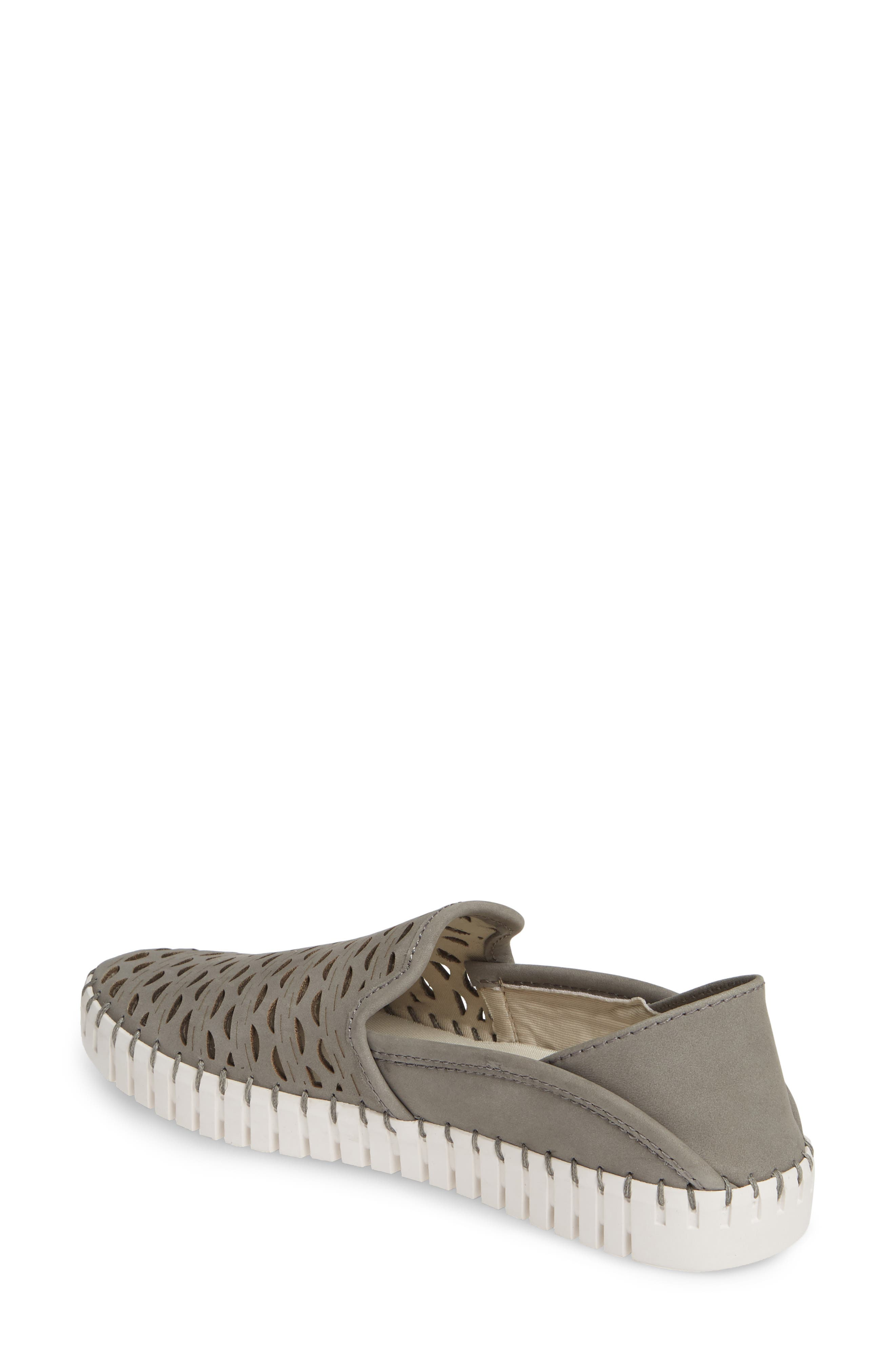 ,                             Janelle Perforated Slip-On,                             Alternate thumbnail 2, color,                             GREY NUBUCK LEATHER