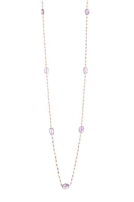 Image of Forever Creations USA Inc. 18K Gold Sterling Silver Amethyst Nugget Necklace